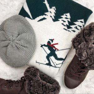 Kaisely Winter Scene Ski Sweater